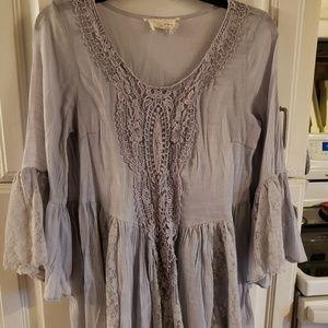 a'reve (M) lilac/grey flowy blouse